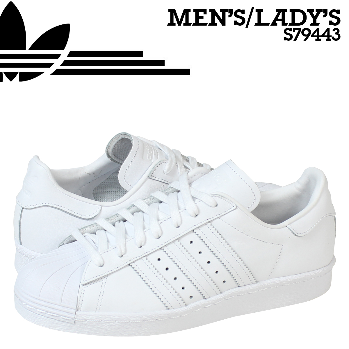 2ff6d4581 ALLSPORTS  Adidas originals adidas Originals superstar sneakers SUPERSTAR  80 s S79443 men s women s shoes white  8 5 Add in stock