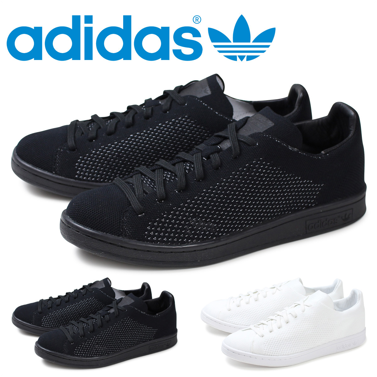 cheap for discount 0b047 6ca8b adidas adidas Stan Smith sneakers STAN SMITH PRIMEKNIT BB S80065 men's  shoes white black [10/13 new in stock]