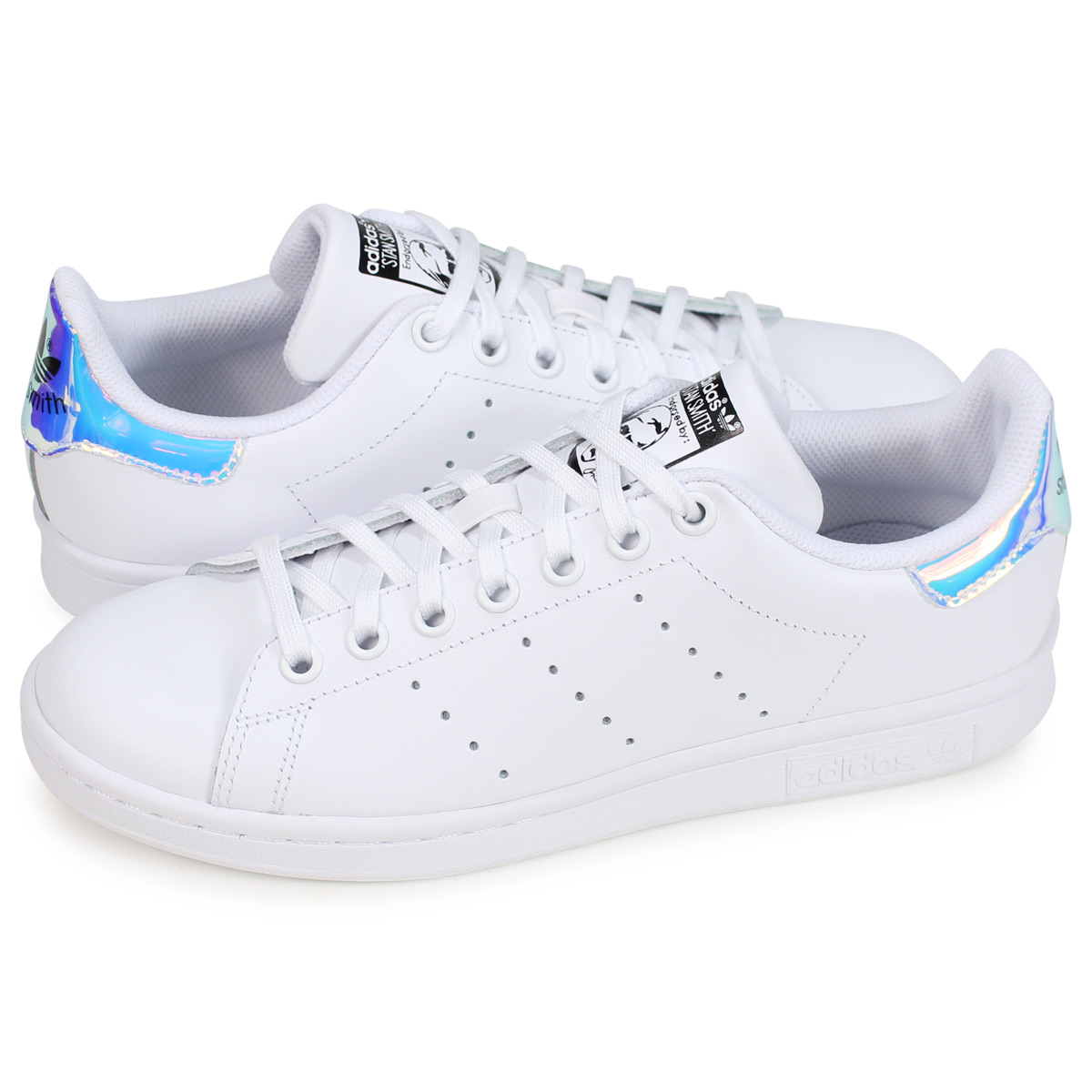 adidas Originals STAN SMITH J Adidas originals Stan Smith sneakers Lady's white AQ6272