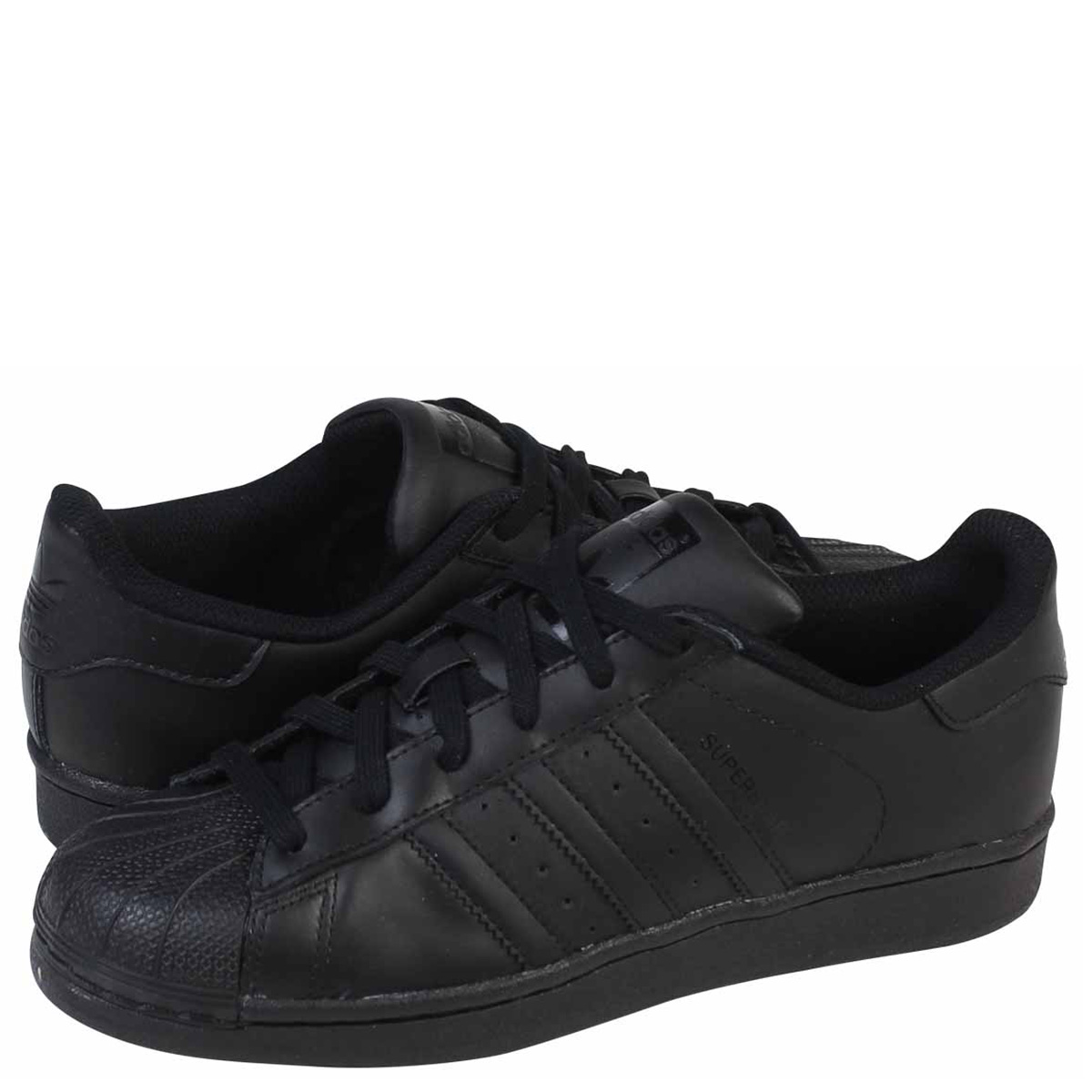 top quality new collection how to buy adidas Originals SUPERSTAR FOUNDATION J Adidas originals superstar Lady's  sneakers B25724 black [load planned Shinnyu load in reservation product  11/9 ...