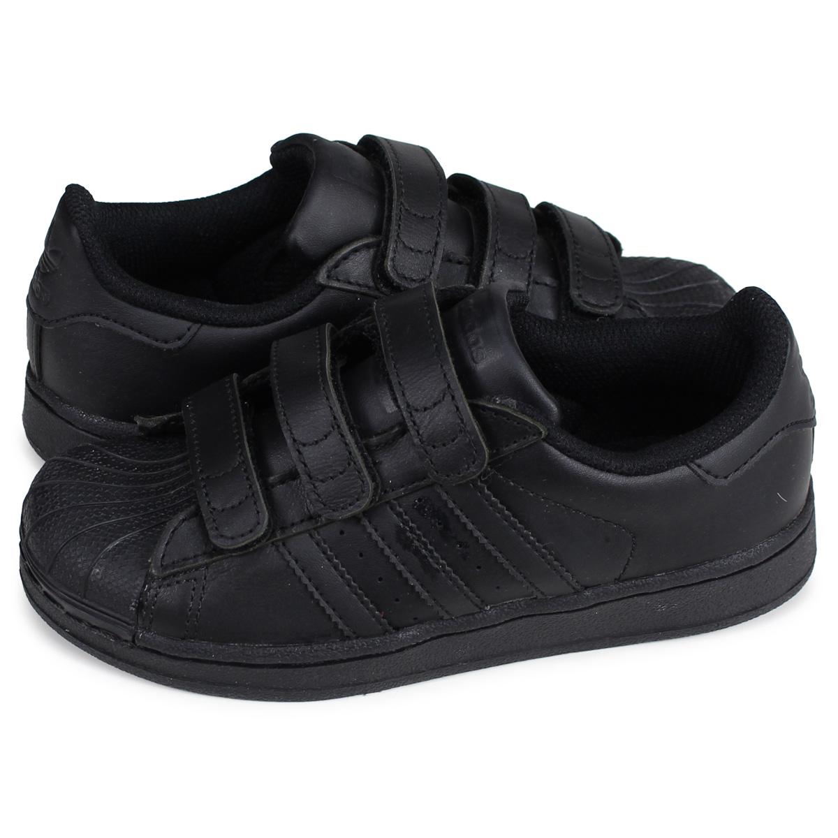 efab0e3a8d425 adidas Originals SUPERSTAR FOUNDATION CF C Adidas originals superstar  sneakers kids Velcro black black B25728 ...