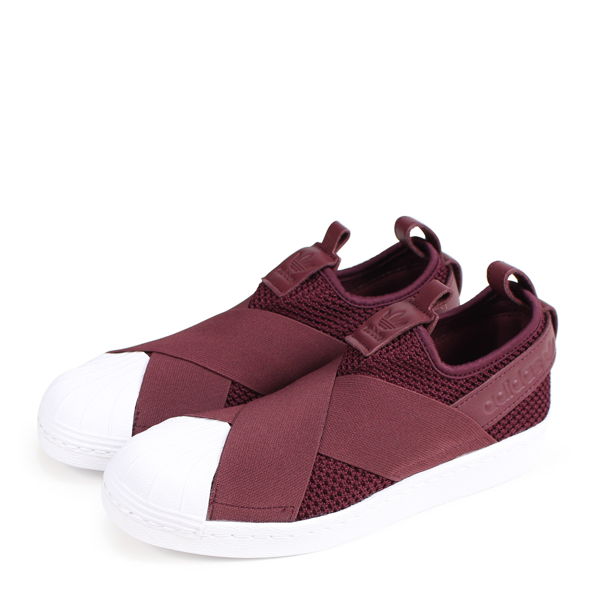 adidas Originals SUPERSTAR SLIP-ON W Adidas originals superstar Lady's  sneakers slip-ons B37371 burgundy [189]