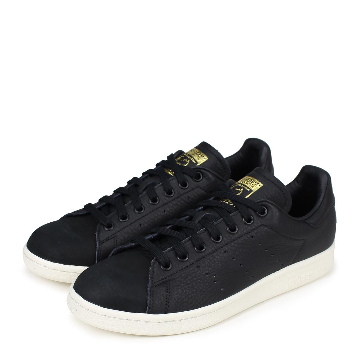 best service 6ca46 d49ea adidas Originals STAN SMITH PREMIUM Adidas originals Stan Smith sneakers  men gap Dis B37901 black [load planned Shinnyu load in reservation product  ...