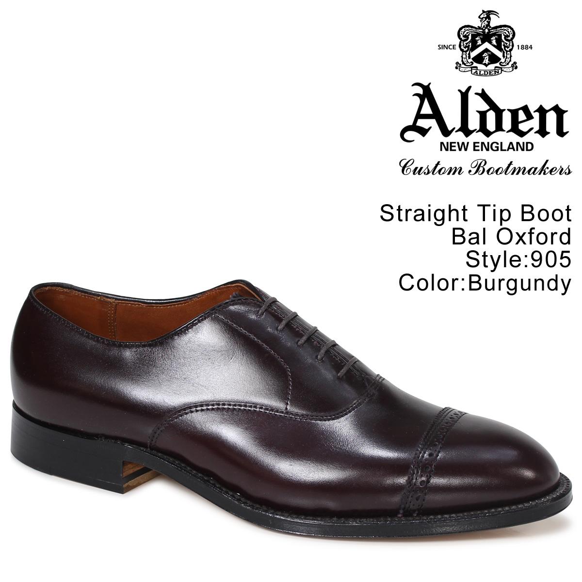 ALDEN STRAIGHT TIP BAL OXFORD オールデン オックスフォード シューズ メンズ Dワイズ 905