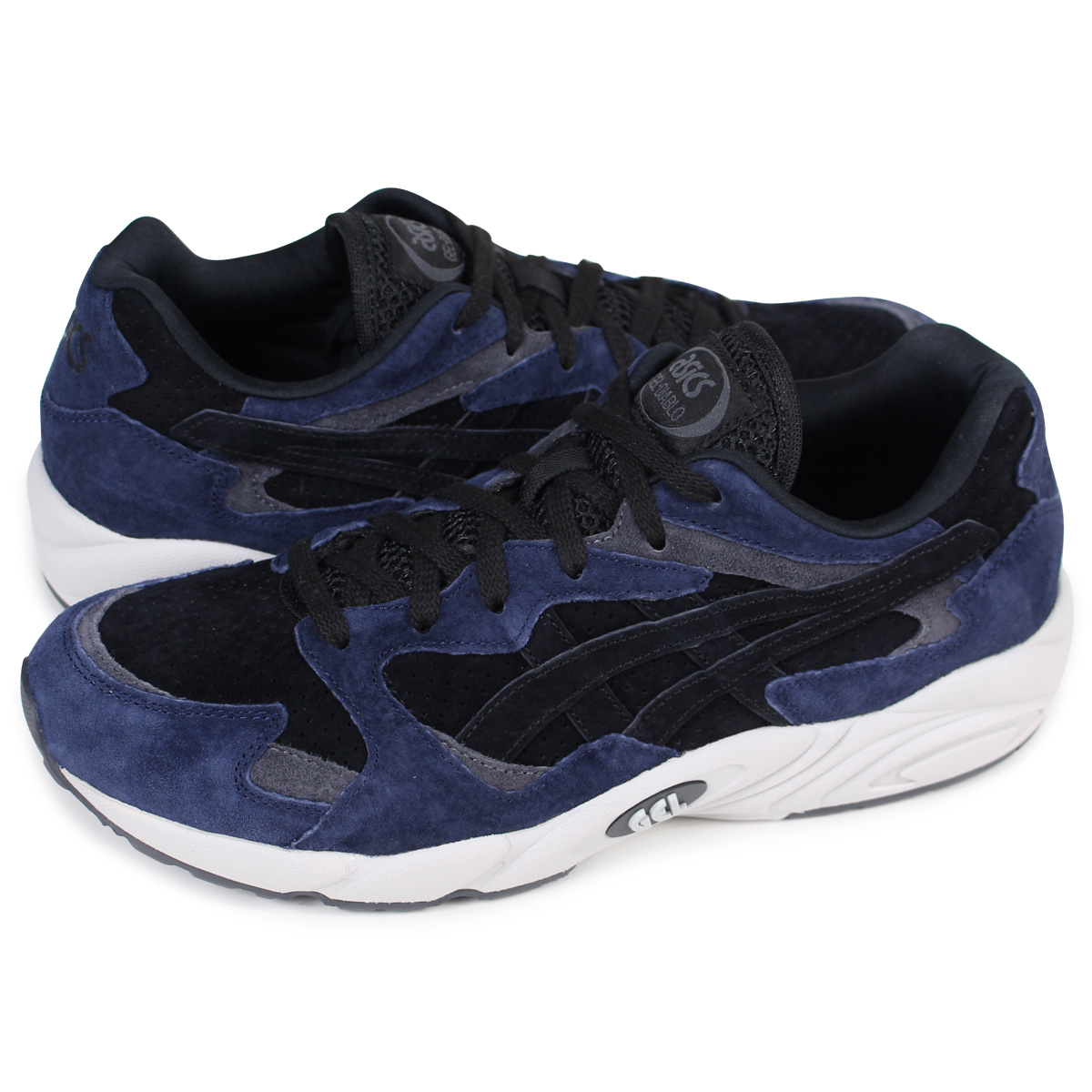 f96694f701438 asics Tiger GEL-DIABLO ASICS tiger gel Diablo sneakers HL7U0-9090 men black  [182]