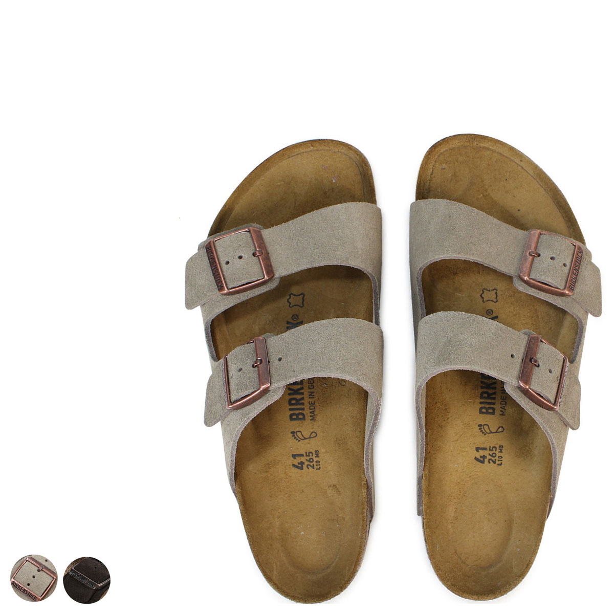 separation shoes 65dd8 4de49 Width suede [186] usually thin BIRKENSTOCK ARIZONA  アリゾナメンズレディースビルケンシュトックビルケンサンダル