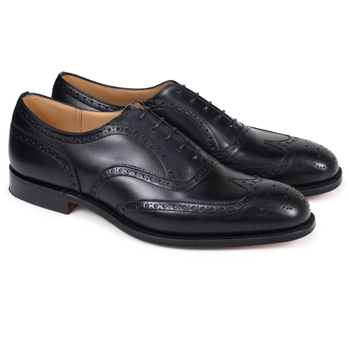 best service ead47 6b880 Church's CHETWYND church shoes Chet wind wing tip shoes men leather black  EEB007 [183]