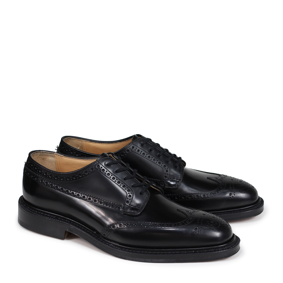on sale 00078 b041f Church's GRAFTON church shoes Grafton wing tip shoes men leather black  EEB009 [195]
