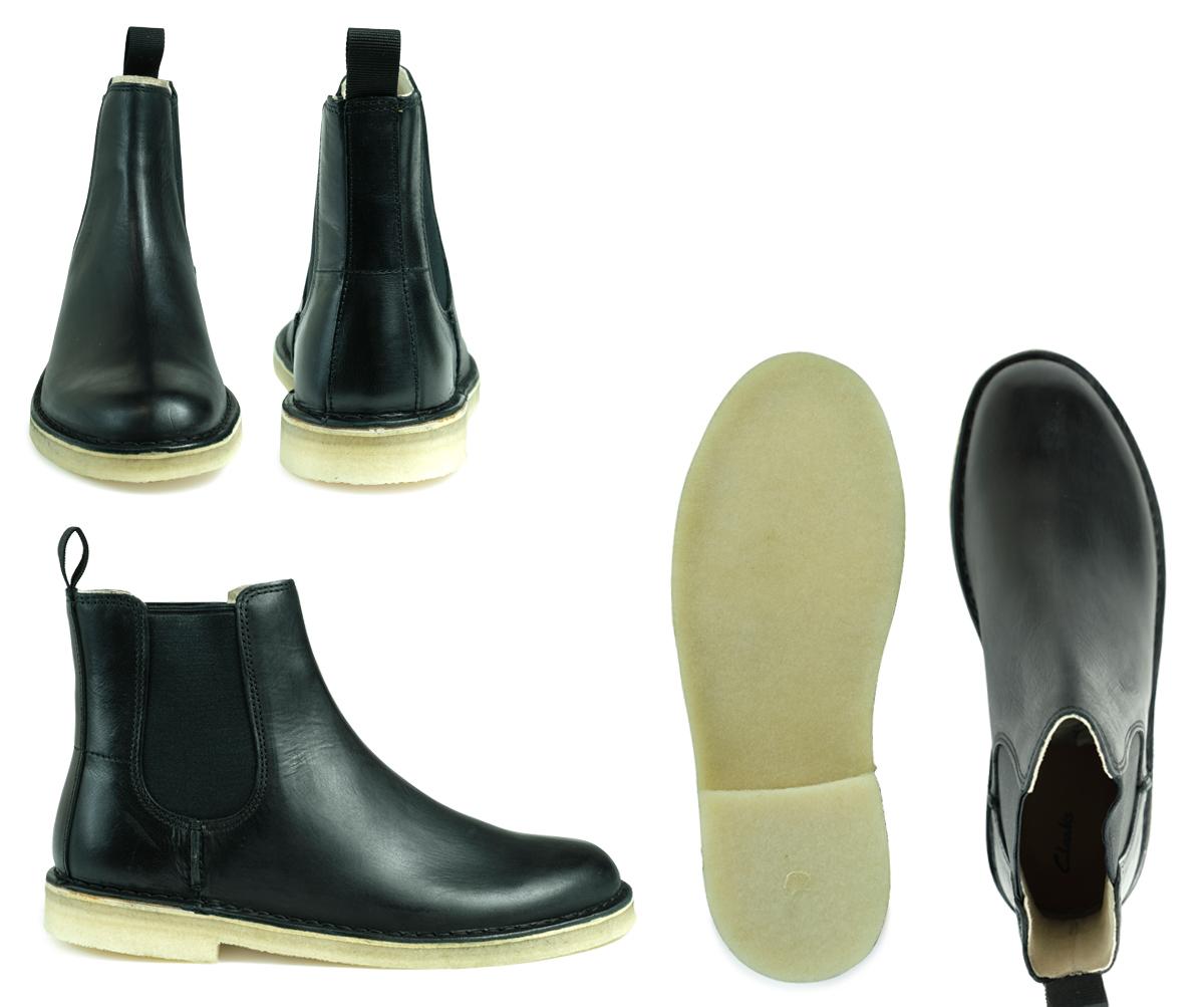 fb649ab10bf 26128730 Clarks DESERT PEAK kulaki dessert peak boots men side Gore shoes  black [1711]