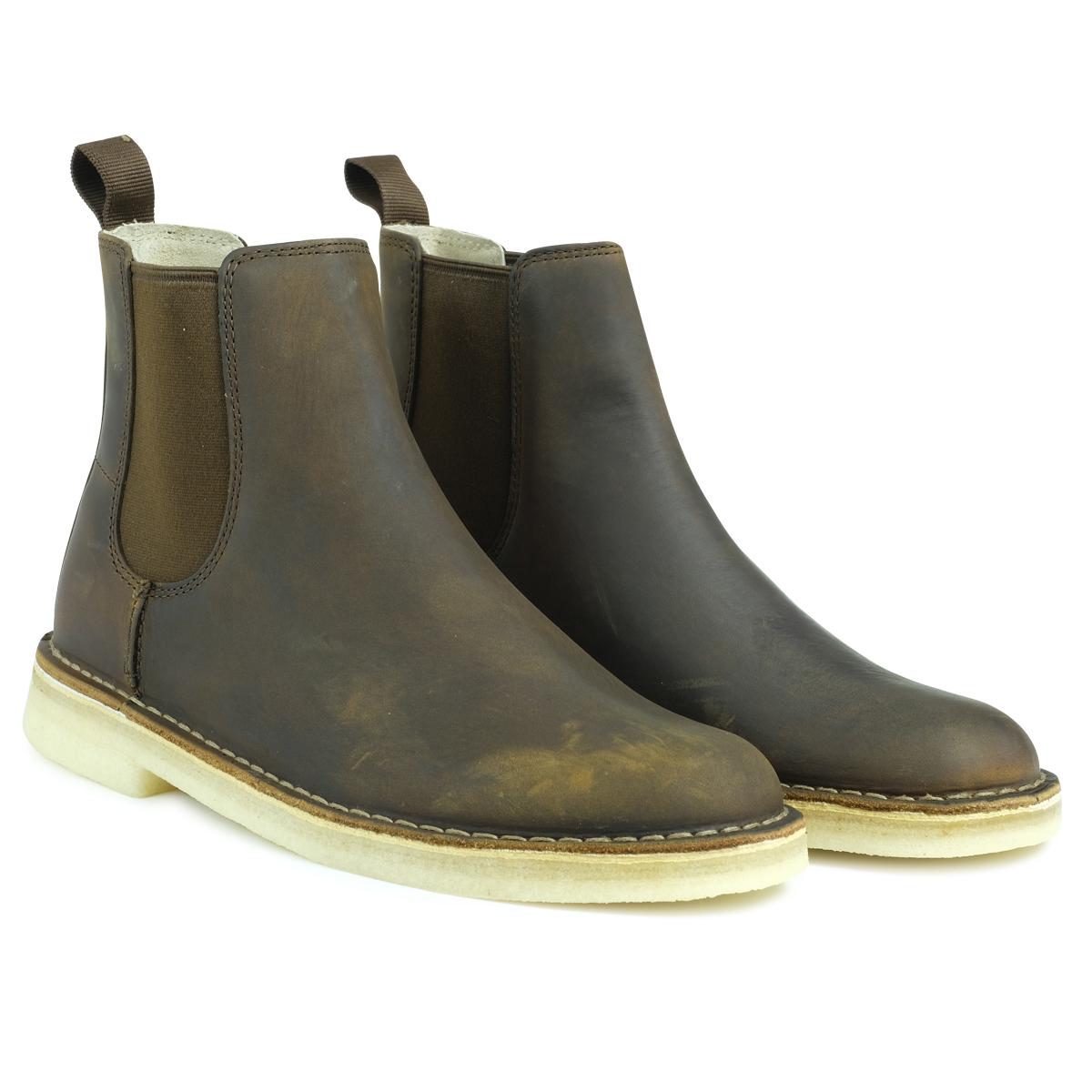 Clarks DESERT PEAK デザート ピーク ブーツ メンズ クラークス 26128732 サイドゴア 靴 ブラウン