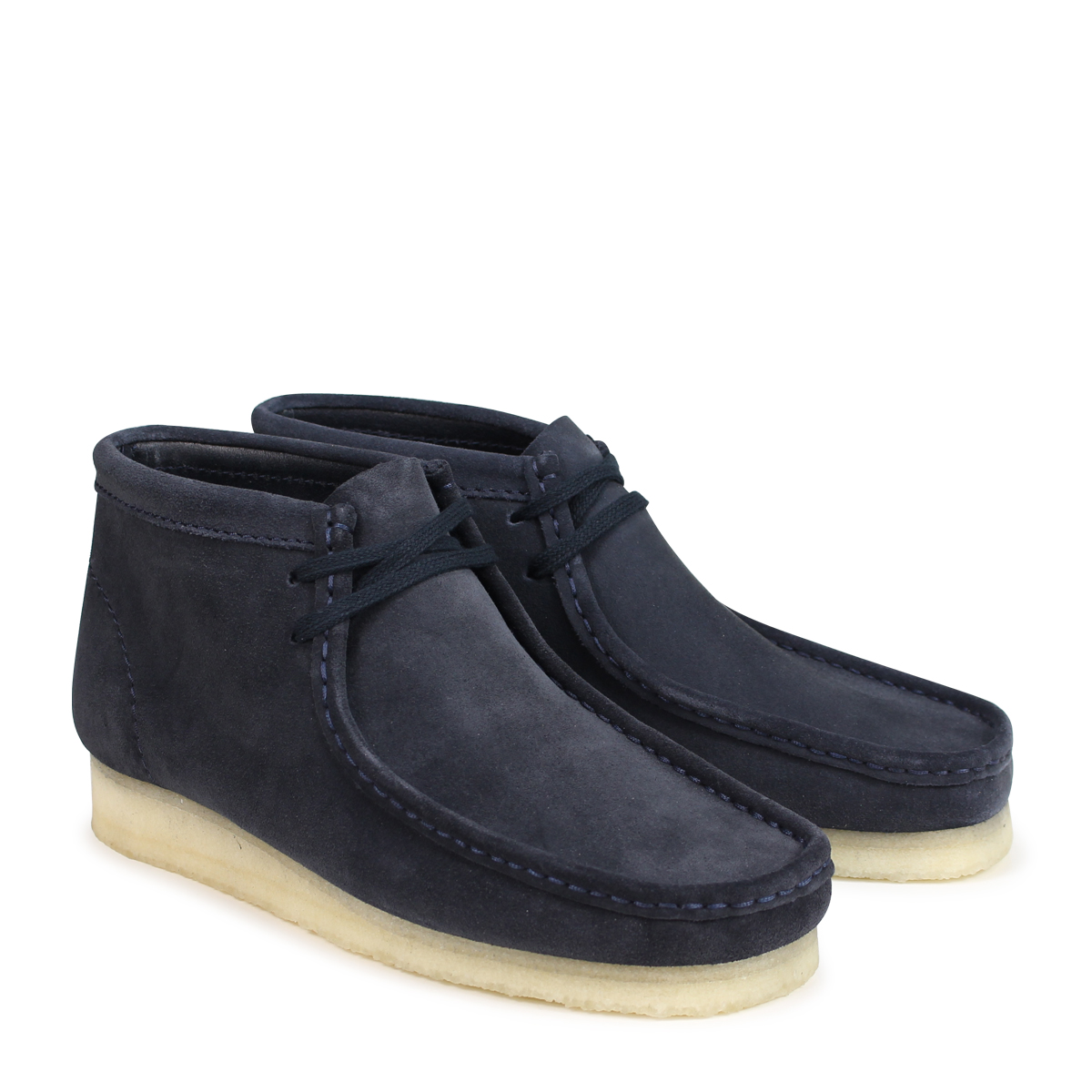 26135225 Clarks WALLABEE BOOT kulaki wallaby boots men dark blue [load planned Shinnyu load in reservation product 918 containing] [189]