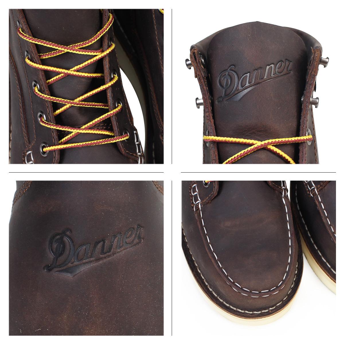 636306d565ba Danner boots Danner BULL RUN MOC TOE 6INCH 15564 EE Wise men brown  8 23  Shinnyu load