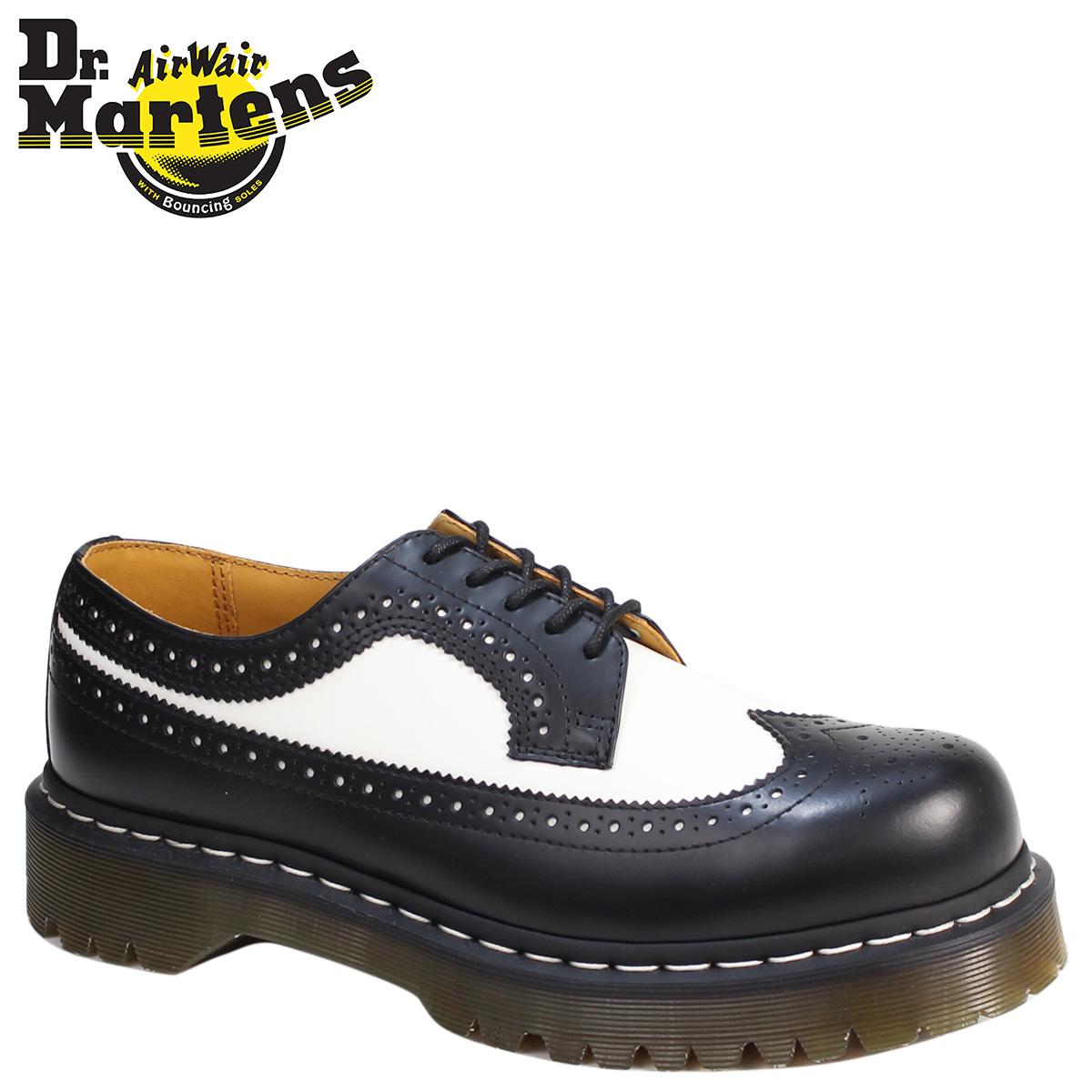 Sold Out Dr Martens 5 Hall Wing Tip Shoes Brogue Bex Sole Men S Las 10458001 398996019 3989 Black X White Uni Genuine