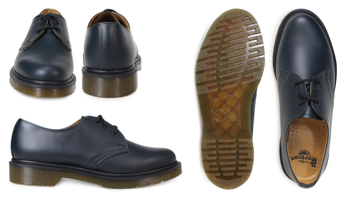 SOLD OUT  Dr. Martens 1461 3 Dr.Martens Hall shoes 3 EYE SHOE leather  men s ladies R10078410 Navy 7e7e32dbb72