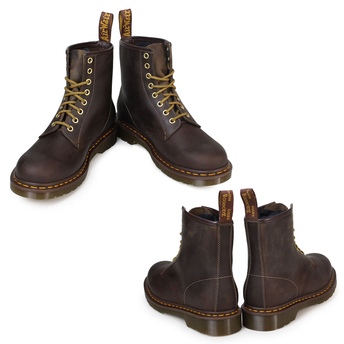 Point 2 x Dr. Martens Dr.Martens 1460 8 hole boots MATERIAL UPDATES leather mens R11822200 8EYE BOOTS Crazy Horse Brown [regular] P06Dec14