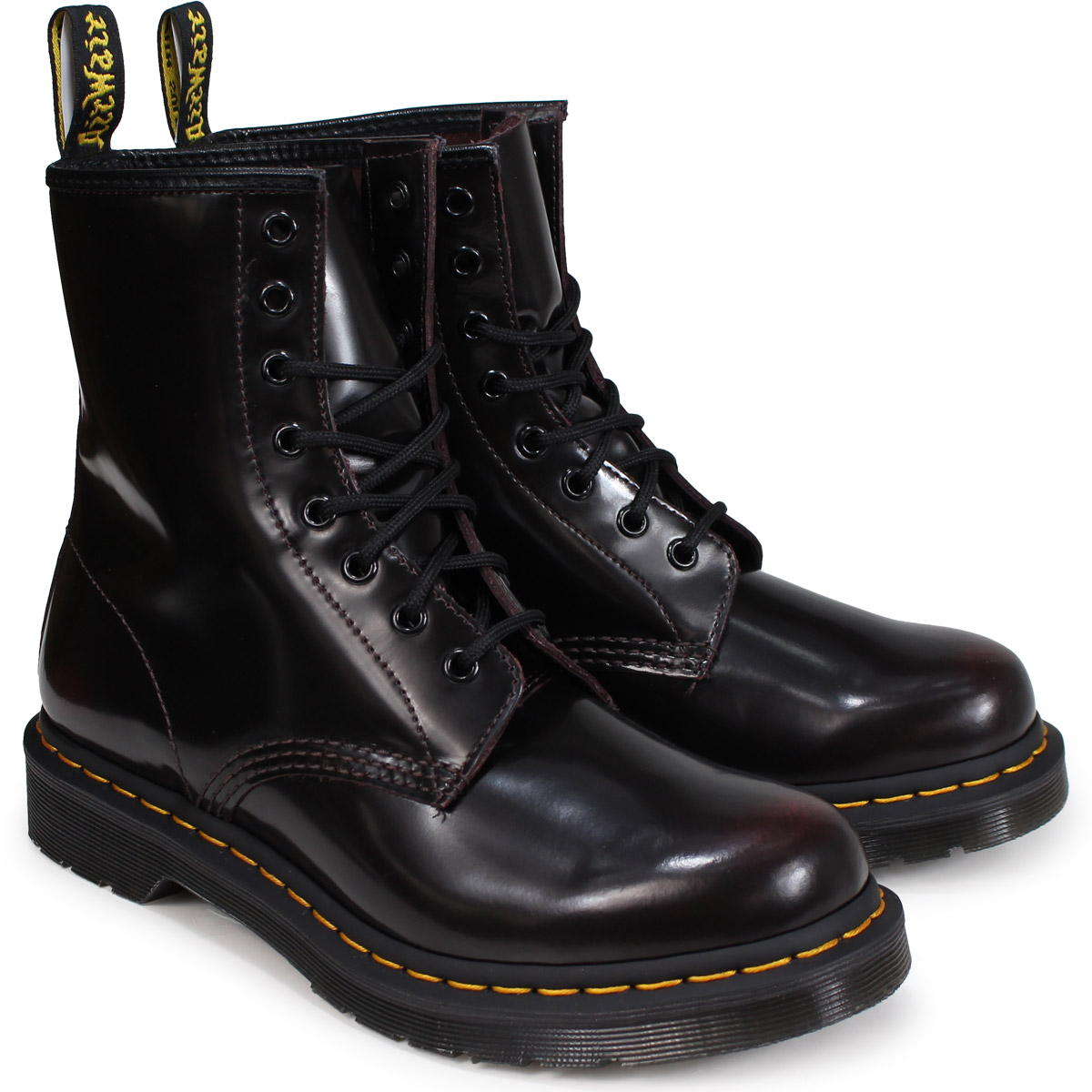 up-to-datestyling half off hot-selling genuine Dr.Martens WOMENS CORE 8EYE BOOT doctor Martin 8 hall 1460 boots Lady's men  wine red R13661601