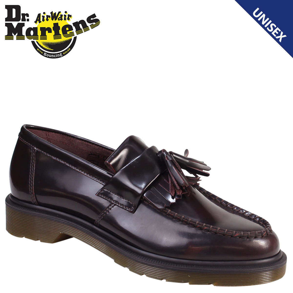 7b7c812894e Dr. Martens Dr.Martens tassel loafer R14573601 ADRIAN smooth leather mens  Womens BURGUNDY