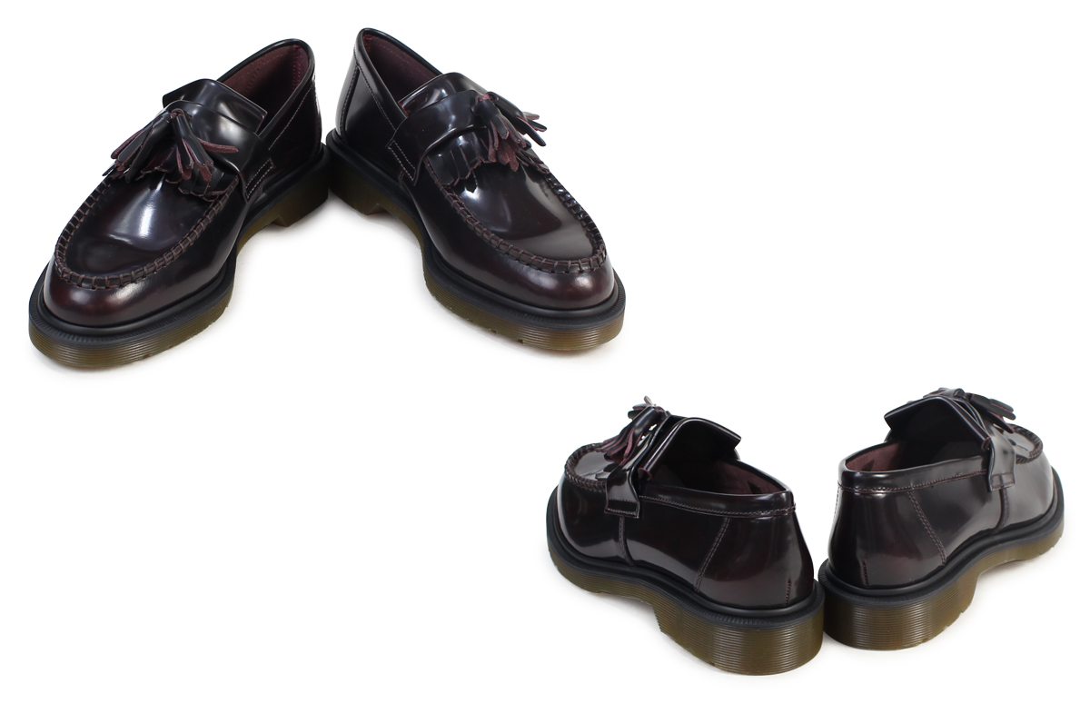 5a742e9fce0 Dr. Martens Dr.Martens tassel loafer R14573601 ADRIAN smooth leather mens  Womens BURGUNDY