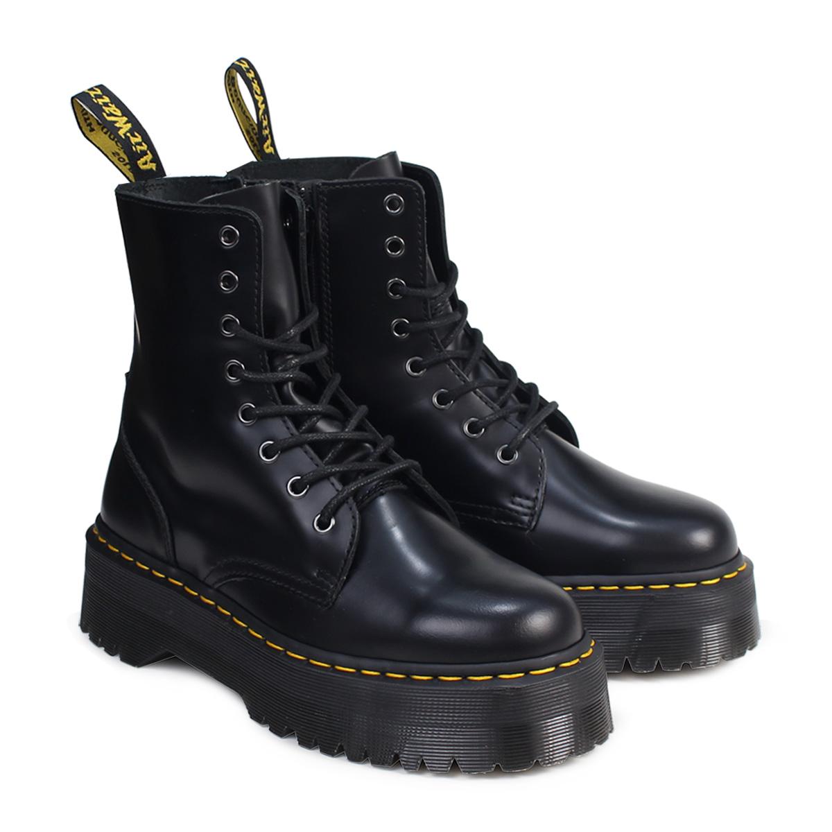 d0e23981188f Dr. Martens Dr.Martens 8 hole boots JADON leather mens Womens R15265001  black unisex  regular