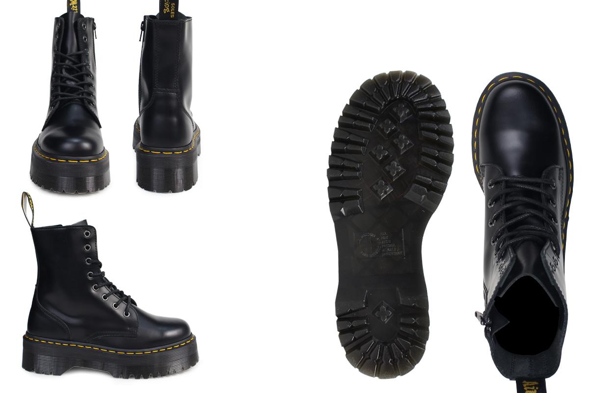 Dr. Martens Dr.Martens 8 hole boots JADON leather mens Womens R15265001  black unisex  regular  4b592613b5