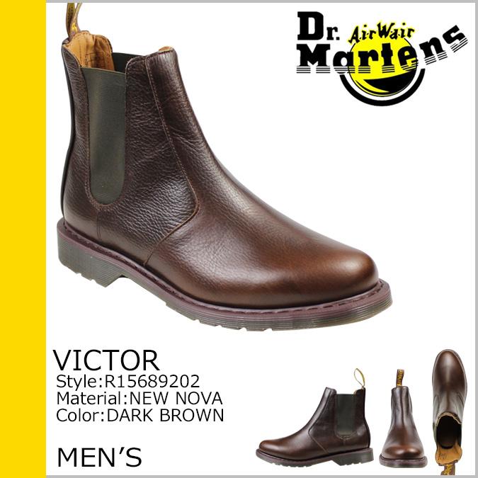 Dr. Martens Dr.Martens Victor said Gore boots VICTOR CHELSEA BOOT leather mens Chelsea boots R15689202 dark brown [regular]