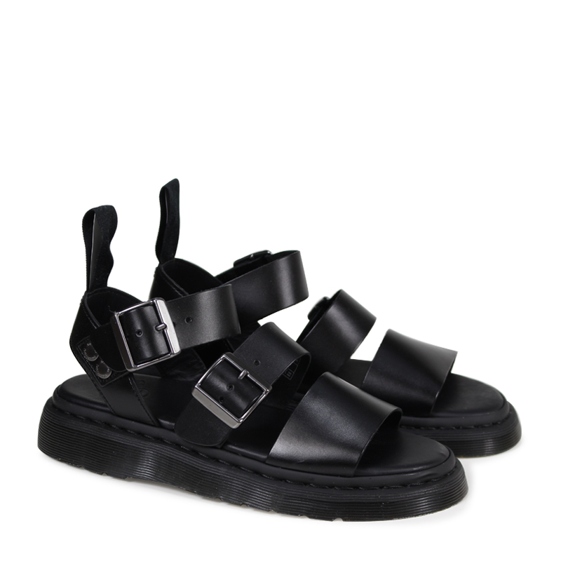 56c78d7bb1be Dr.Martens GRYPHON STRAP SANDAL doctor Martin griffon men gap Dis sandals  black R15695001  3 2 Shinnyu load   183