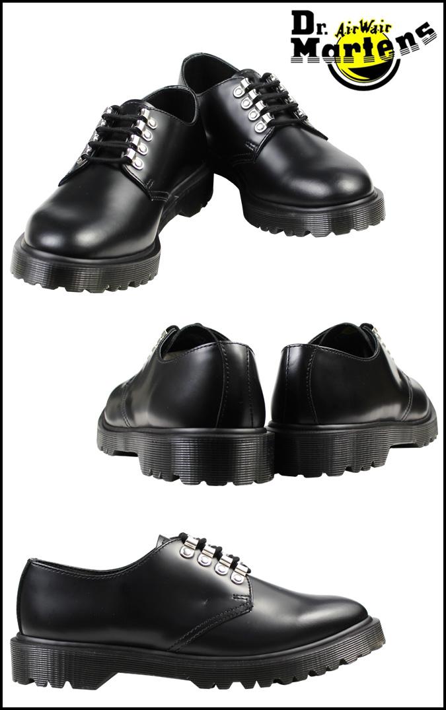博士马滕斯 Dr.Martens 克里斯汀大厅 4 鞋 KRISTINN 4 眼花边鞋皮革男 R16183001 黑色