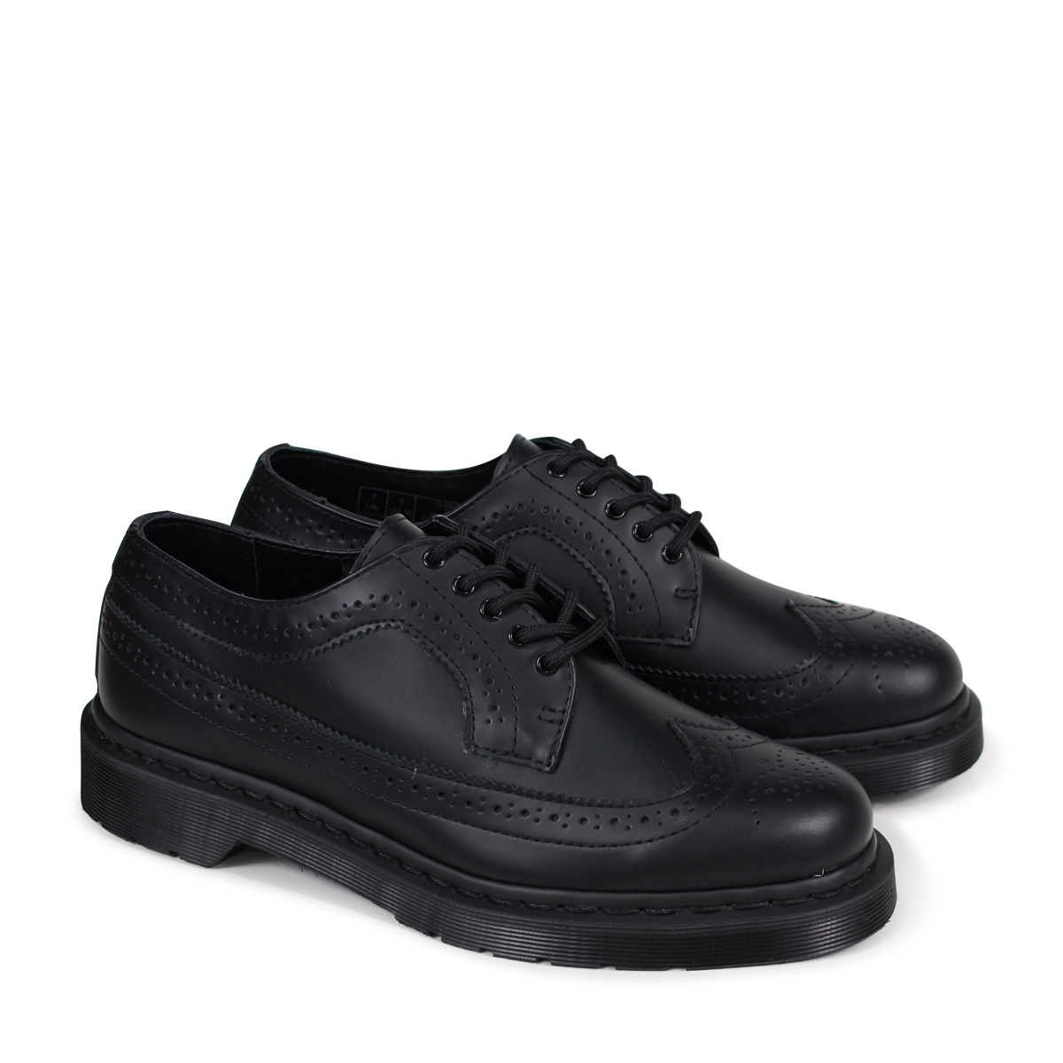 53206b073d41 Dr.Martens MONO BROGUE SHOES doctor Martin wing tip 3989 men s lady s shoes  black R22916001  load planned Shinnyu load in reservation product 5 8 ...