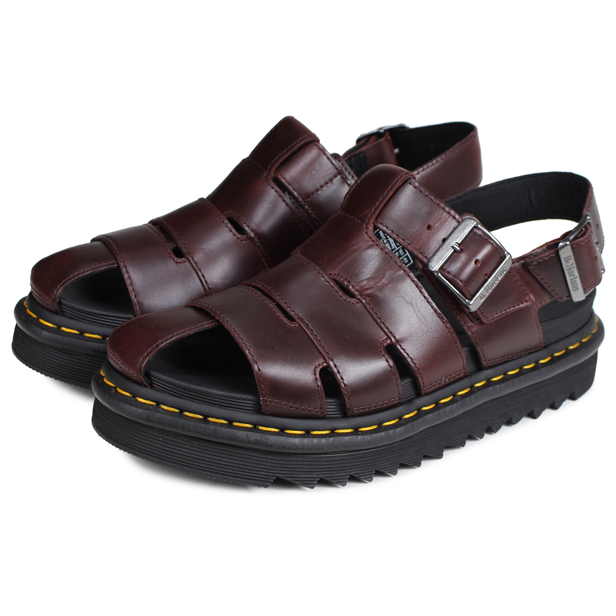 promo codes 100% genuine buy Dr.Martens ABEL doctor Martin sandals Abel fisherman men gap Dis brown  R24522211 [194]
