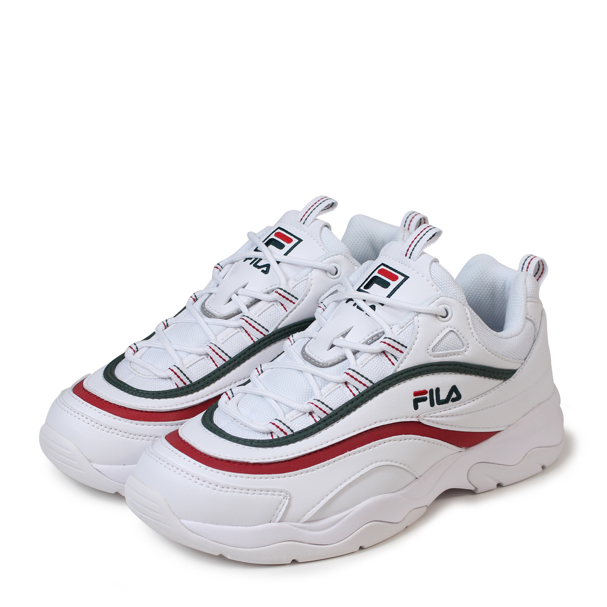 12eb7687248c FILA FOLDER FILARAY SMU Fila Fila lei sneakers Lady s men folder  collaboration white FLFL8A1U10 FS1SIA1166X WGN  load planned Shinnyu load  in reservation ...