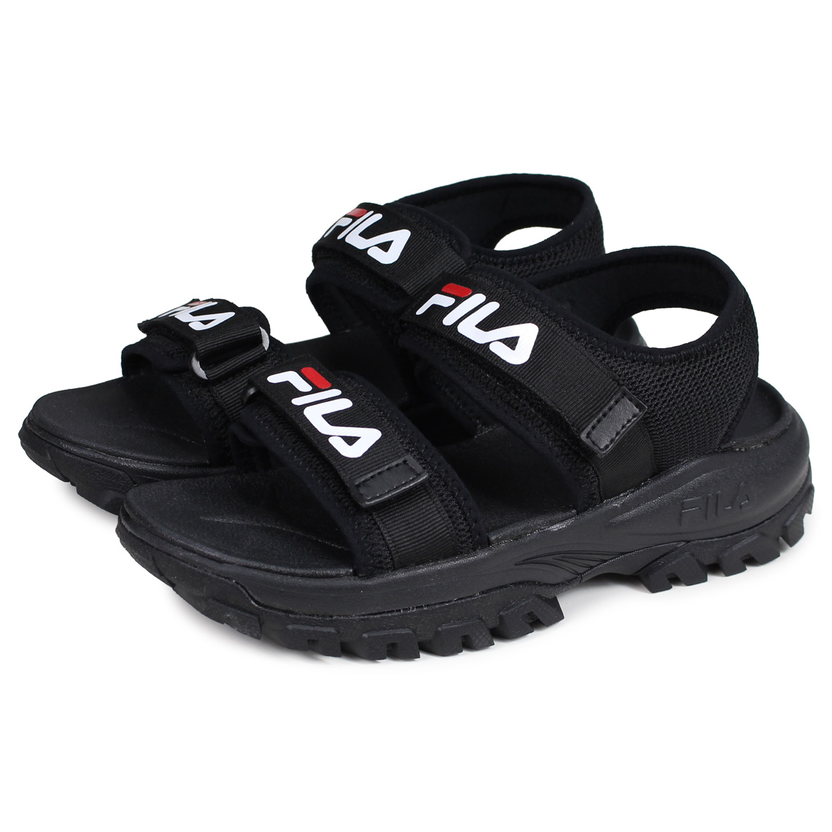 e2d3e5cf31 FILA RAY TRACER SD Fila tracer sandals sports sandals men gap Dis thickness  bottom black black FS1SIB2011X-BBK [195]