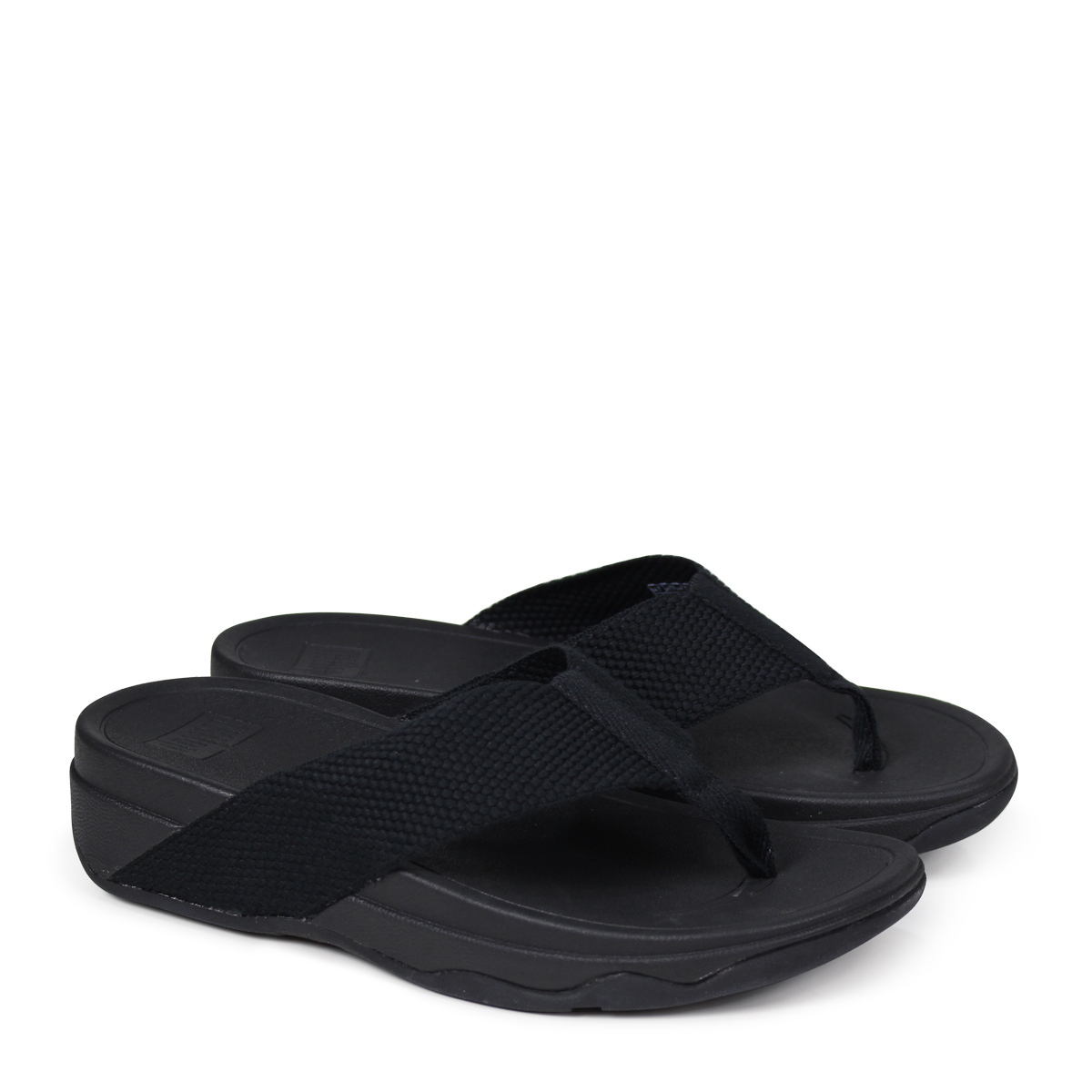 272395273 FitFlop SURFA TOE POST SANDALS sandals fitting FLOP surfer Lady s H84 black   4 4 Shinnyu load   184