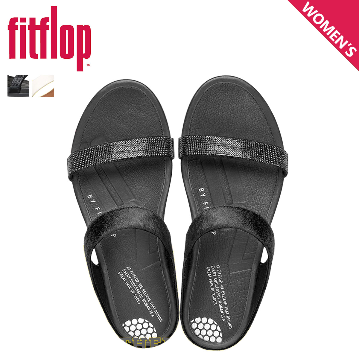 900a30d1894 FitFlop fit flop Banda women s slide sandal BANDA MICRO CRYSTAL SLIDE 472
