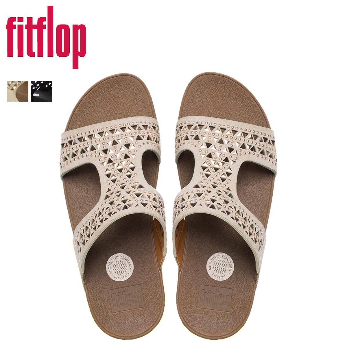 FitFlop 適合翻牌卡梅爾滑涼鞋卡梅爾麂皮絨滑 670 婦女