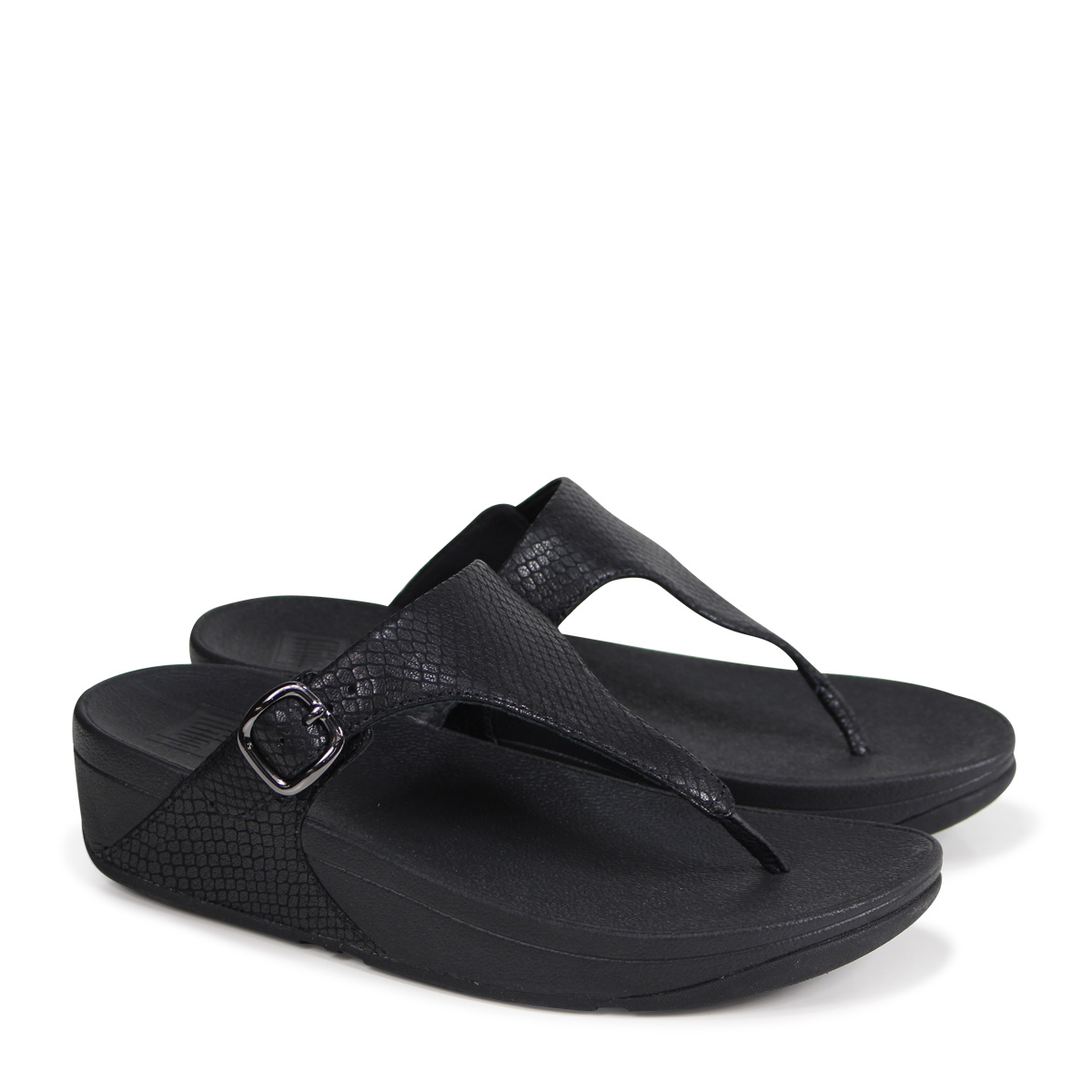ff08451a90e7 ALLSPORTS  FitFlop THE SKINNY SNAKE EMBOSSED LEATHER TOE-THONG ...