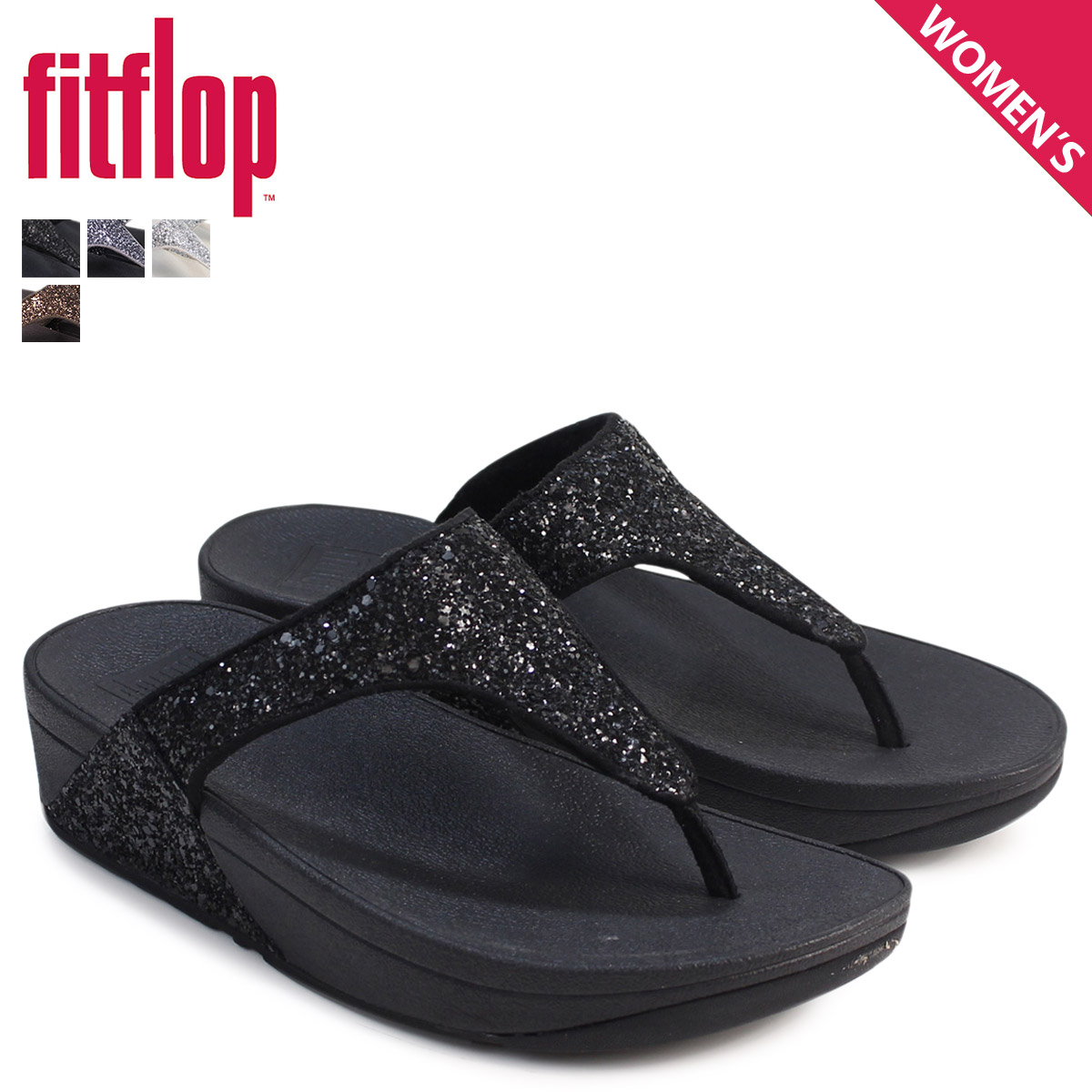 ff8ff5fc28a Fitting FLOP sandals FitFlop glitter GLITTERBALL TOE POST H25 Lady s  4 4  Shinnyu load   174