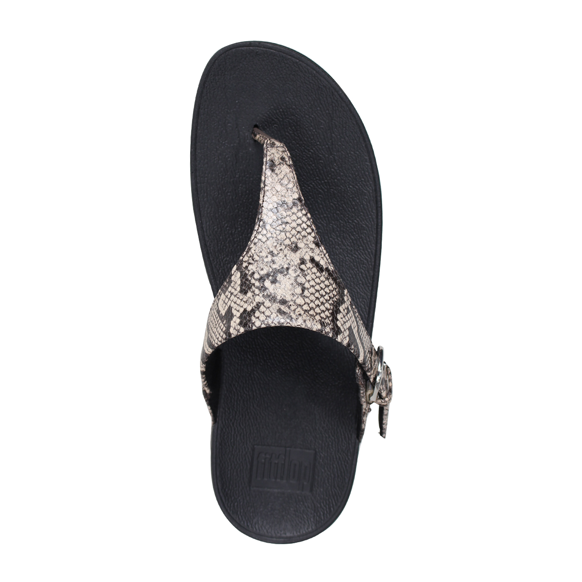 df5afe62d5c1 FitFlop SKINNY TOE-THONG SANDALS SNAKE PRINT LEATHER sandals fitting FLOPS  Kinney Lady s L69 black  4 4 Shinnyu load   184