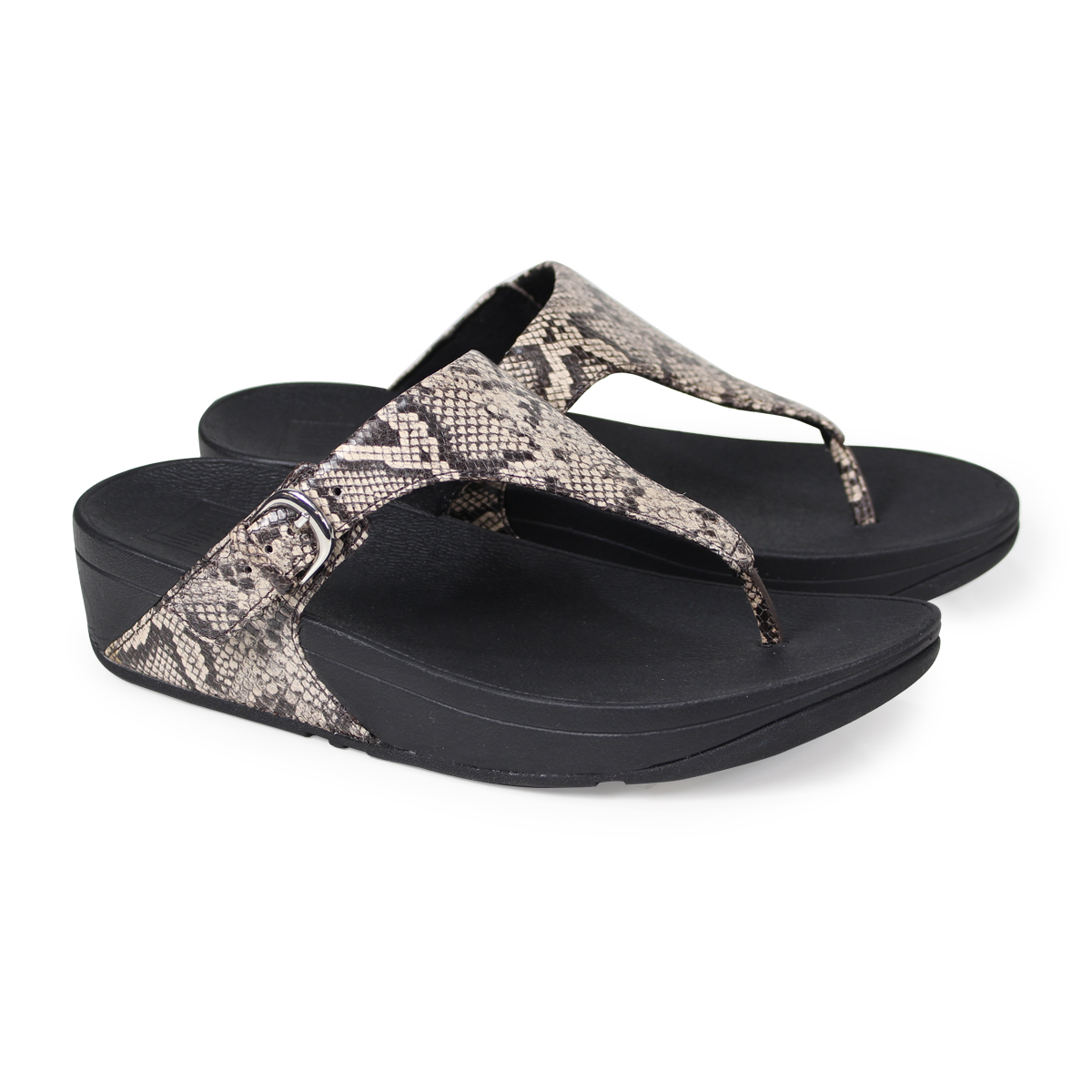 3e1f10953447 ALLSPORTS  FitFlop SKINNY TOE-THONG SANDALS SNAKE PRINT LEATHER ...