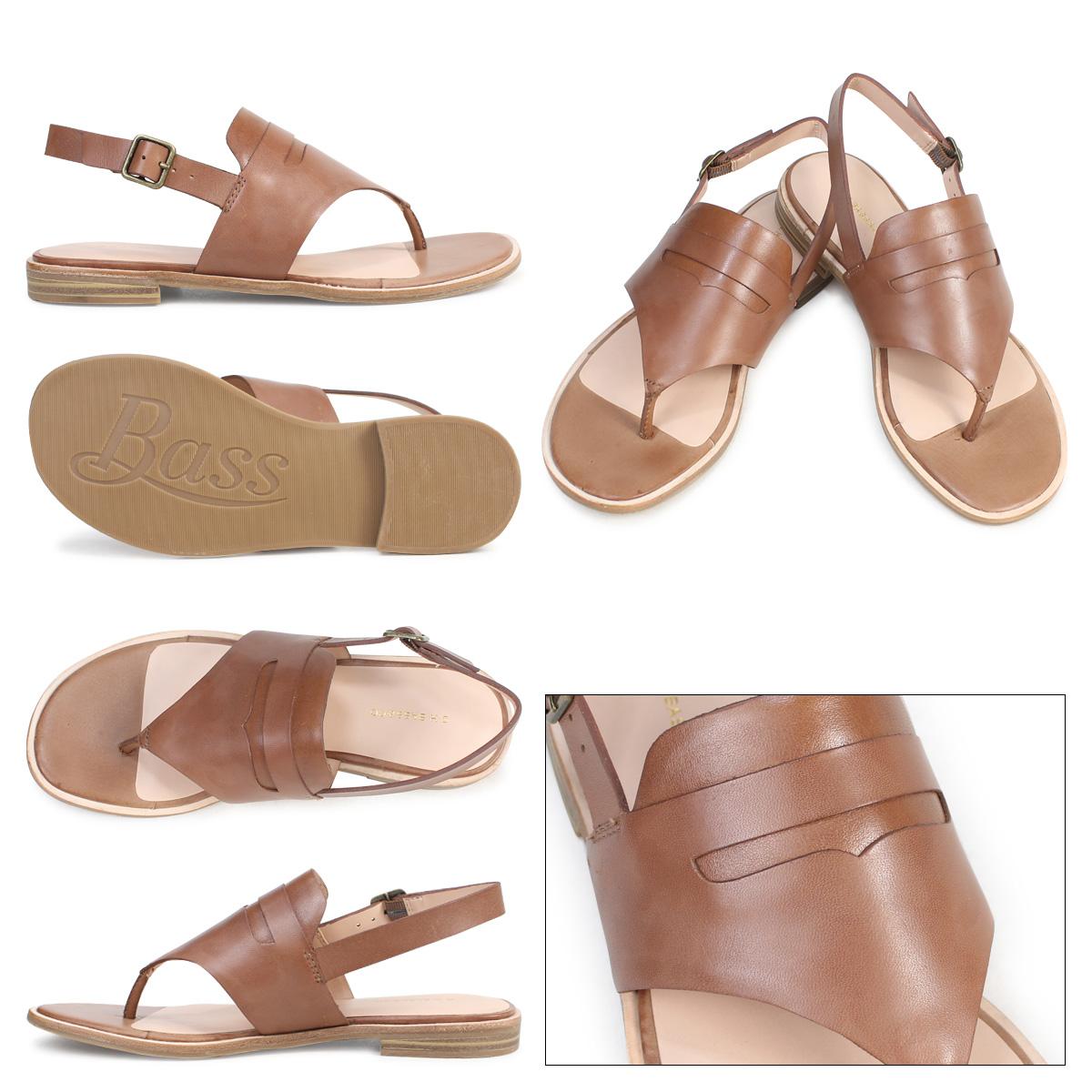 35fcde6d0e7 G H bus sandals Lady's G.H. BASS tong ankle strap MADDIE THONG SANDAL  71-20,338 shoes brown [177]