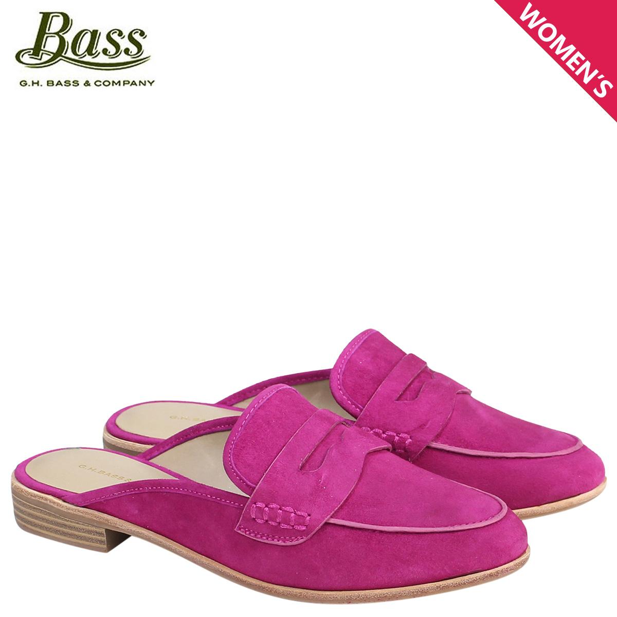 G H bus loafer G.H. BASS レディースサンダルスリッパバブーシュ ERIN MULE 71-21,388 shoes pink  [176]