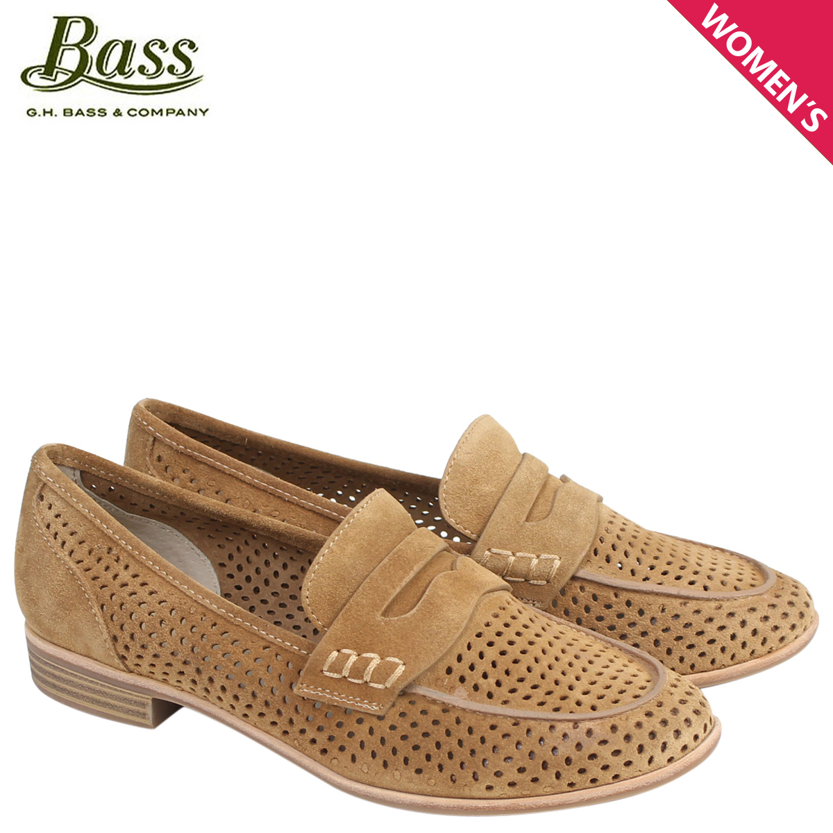 G H bus loafer G.H. BASS Lady's pumps penny ELLIE LOAFER 71-21,392 shoes  camel [177]