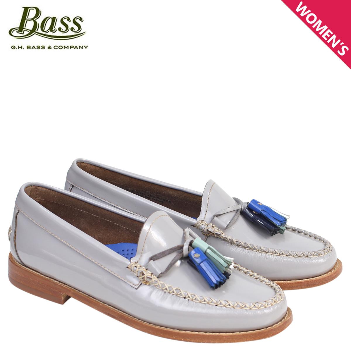 ジーエイチバス ローファー G.H. BASS レディース タッセル WILLOW PENNY LOAFER 71-22845 靴 グレー [177]