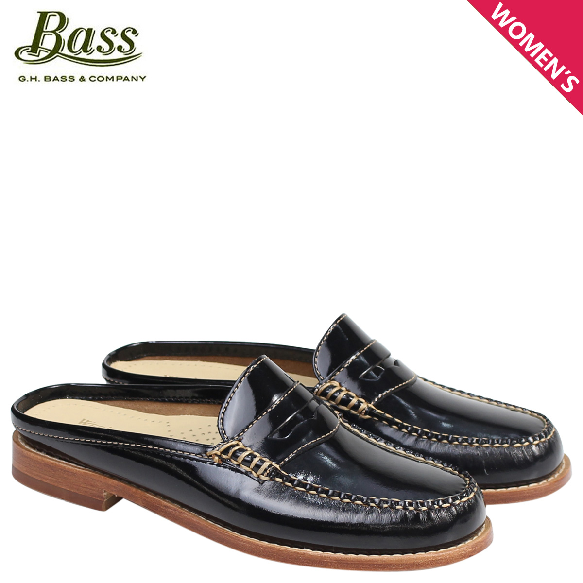 b92b990a479 G H bus loafer G.H. BASS レディースサンダルスリッパバブーシュ WYNN PATENT LEATHER MULE  WEEJUNS 71-22