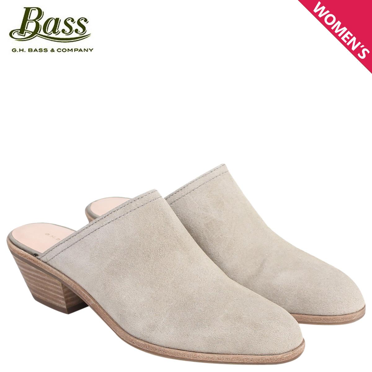 G H bus sandals Lady's G.H. BASS mule sabot clog NIKKI MULE 71-23,505 shoes  gray [177]