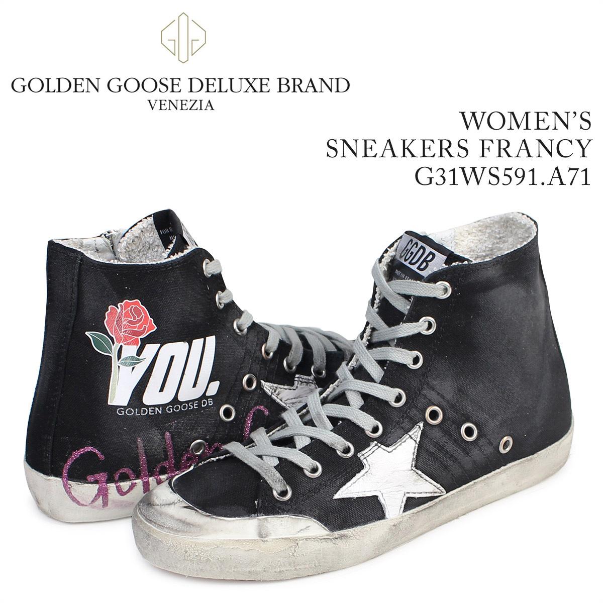 Golden Goose ゴールデングース スニーカー レディース フランシー SNEAKERS FRANCY イタリア製 G31WS591 A71 靴 ブラック