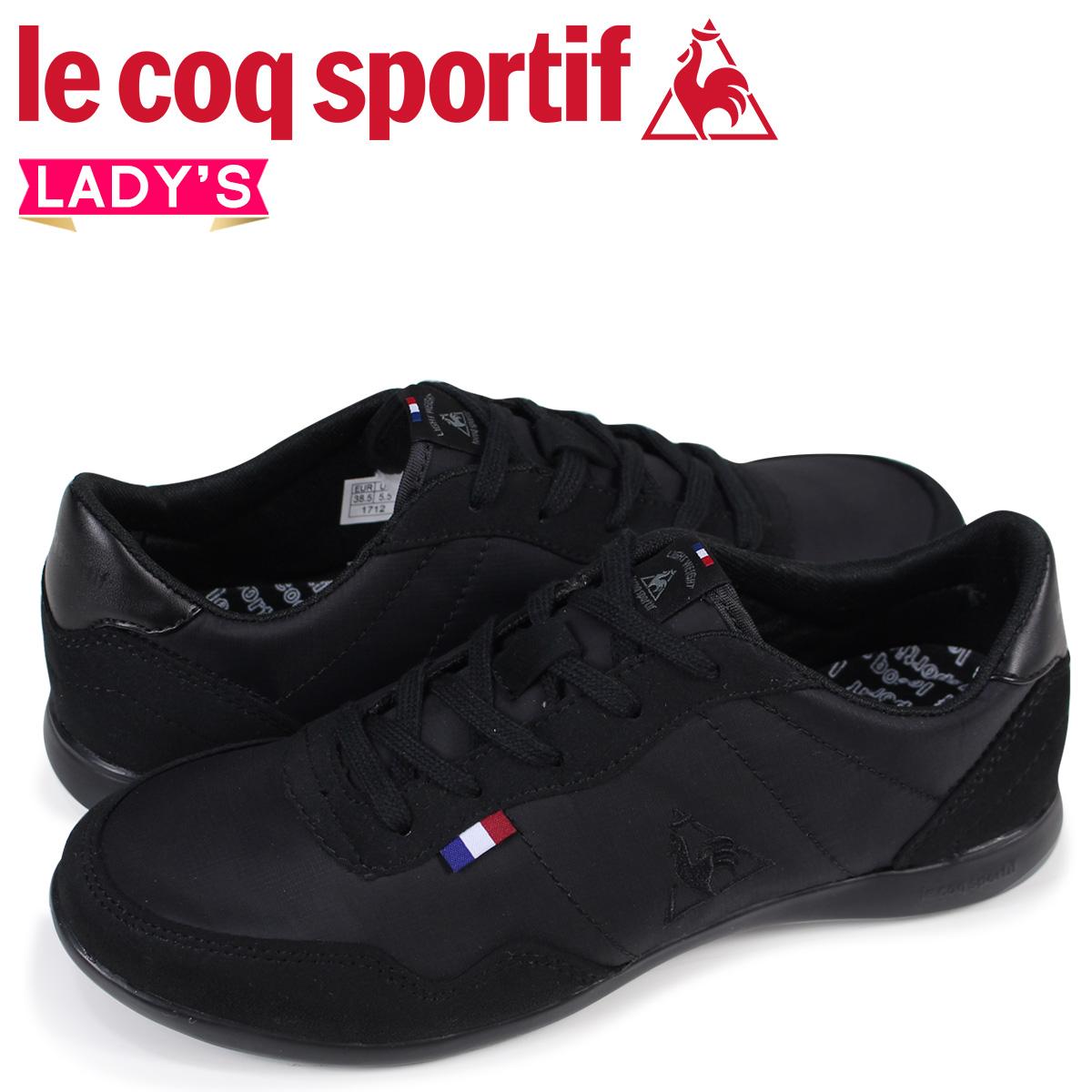 bd906a746604e1 le coq sportif SEGUR II WIDE ルコックスポルティフレディーススニーカーセギュール II wide black  QFM-6113BK [2/10 Shinnyu load] [182]