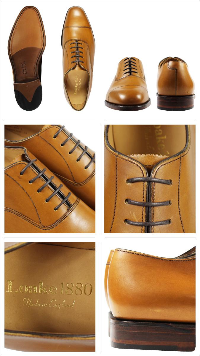 7b665edde34a6 ... Rourke Loake 1880 Aldwych Oxford Shoes ALDWYCH CALF TOE CAP OXFORD  fitting F MADE IN UK