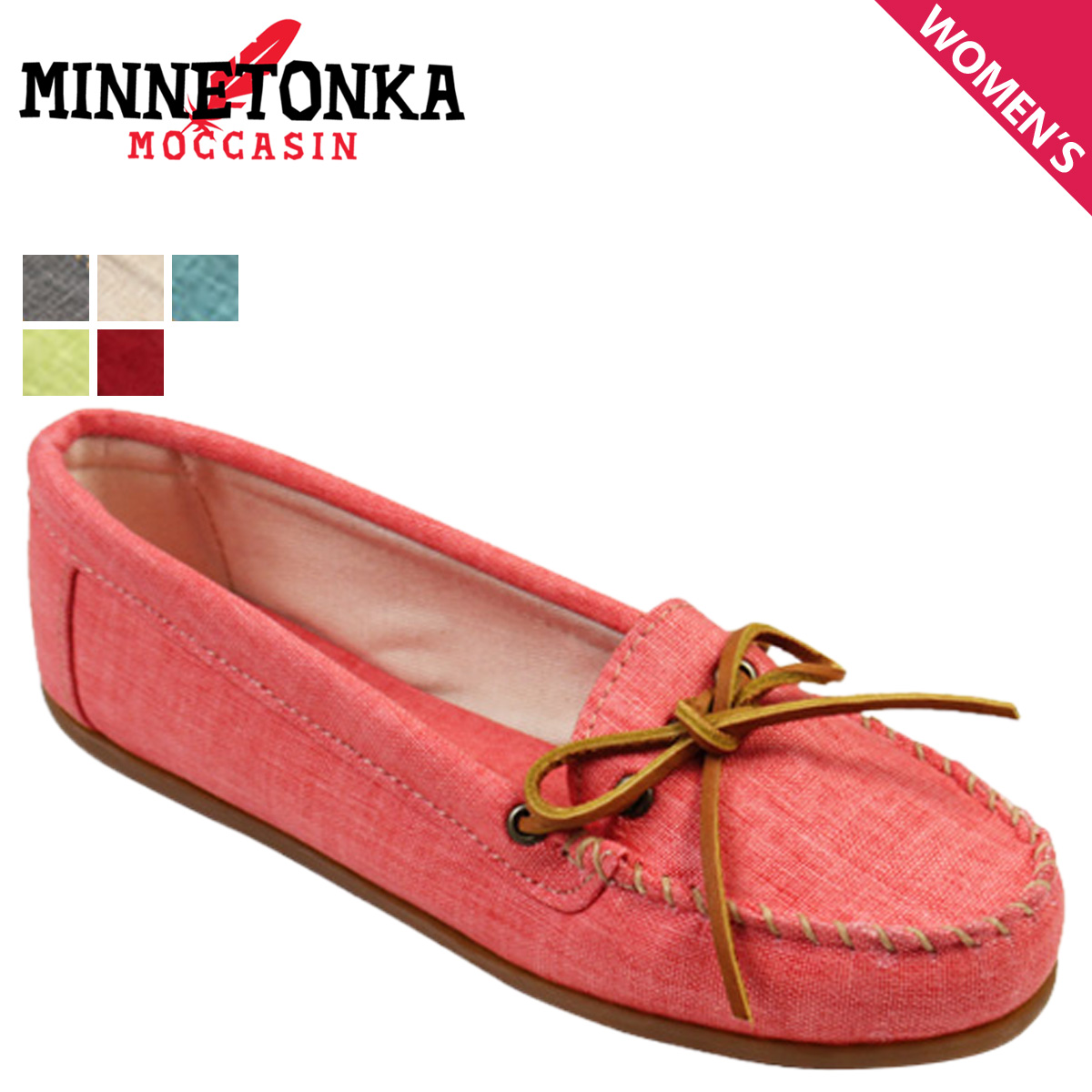 a9e9462fc775ca Minnetonka MINNETONKA moccasins canvas mock 4 colors CANVAS MOC Womens 2014  new limited 230 231 235 ...
