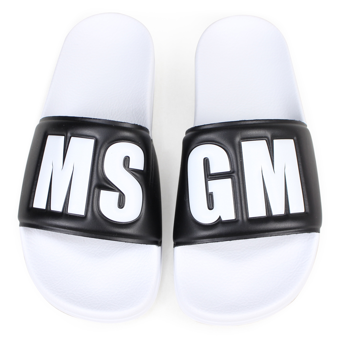 MSGM POOL SLIDE CON LOGO サンダル レディース エムエスジーエム シャワーサンダル 2441MDS200 001 ホワイト