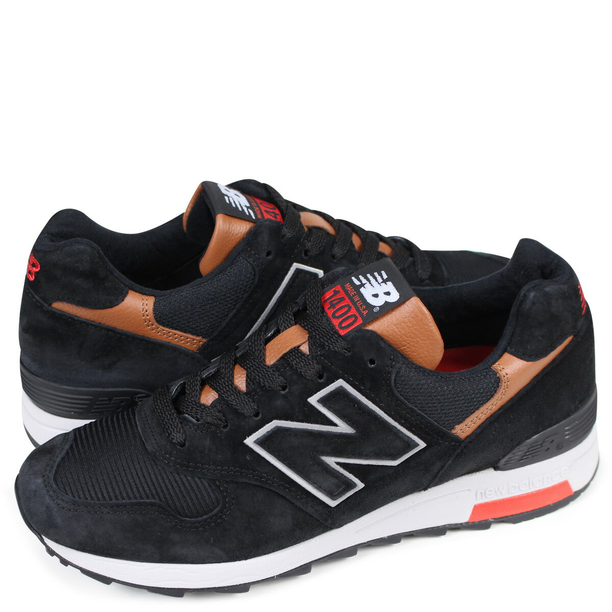 detailed look d3b10 5d98e new balance M1400MC New Balance 1400 men's sneakers D Wise MADE IN USA  black [183]